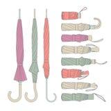 Various umbrellas vector set Stock Photo