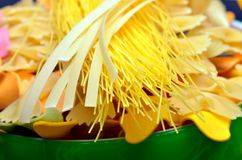 Various uncooked pasta Royalty Free Stock Photo