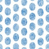Various Unique Fingerprints Seamless Pattern Background. Vector. Various Unique Fingerprints Seamless Pattern Background for Web and App Identification Privacy Royalty Free Stock Images