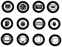 Various universal IT icon and app collection set Royalty Free Stock Photography