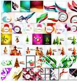 Various universal set of abstract backgrounds Stock Images