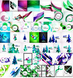 Various universal set of abstract backgrounds Stock Photos