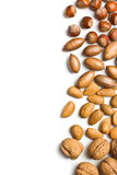 Various unpeeled nuts Royalty Free Stock Photo