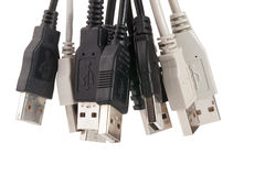Various usb connectors Royalty Free Stock Photos