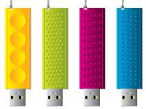 Various usb sticks hanging Royalty Free Stock Photo