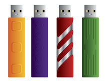 Various USB sticks set 2 Royalty Free Stock Photography