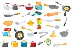 Various utensils. Illustration of various utensils on a white Stock Photos