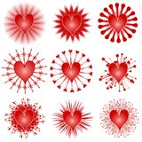 Various Valentine Hearts Clip Art Icons royalty free illustration