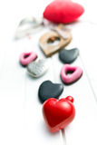 Various valentine hearts Royalty Free Stock Image