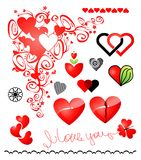 Various variants of hearts icon Royalty Free Stock Photography
