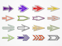 Various vector arrows Royalty Free Stock Photos