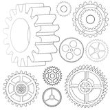 Various vector gears Royalty Free Stock Photo