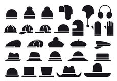 Free Various Vector Hats Stock Images - 22994654