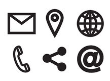 Various vector icons of communication. On white background royalty free illustration