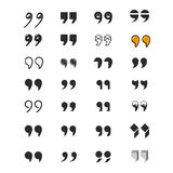 Various vector quotation marks Stock Photo