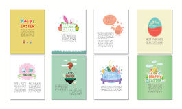 Various vector templates of happy easter Royalty Free Stock Photo