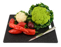Various vegetable on cutting board Stock Photography