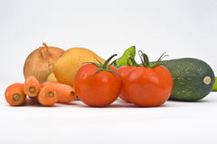 Various Vegetable isolated Stock Image