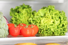 Various vegetable in refrigerator Stock Photo