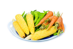 Various vegetables. Isolated on the white background Stock Images