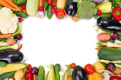 Various vegetables arranged around copy space Royalty Free Stock Image