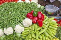 Various vegetables in asia street market bazaar, India Stock Images