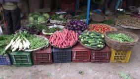 Various vegetables in  bazaar, India. Various vegetables in street bazaar, India stock video footage