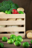 Various vegetables in box Royalty Free Stock Photography