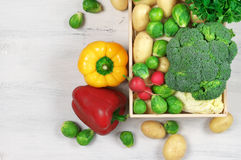 Various vegetables in box Stock Photo