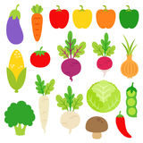 Various Vegetables Clipart. Illustration of various vegetables in bright color. Available also in vector eps10 Royalty Free Stock Image