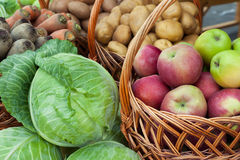 Various vegetables and fruits Stock Photos