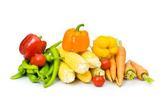 Various vegetables isolated. On the white background Stock Images