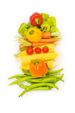 Various vegetables isolated Royalty Free Stock Image