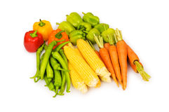 Various vegetables isolated Stock Image