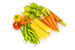 Various vegetables isolated Stock Photography