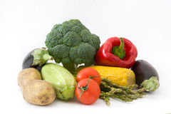 Various Vegetables Isolated photo Royalty Free Stock Image