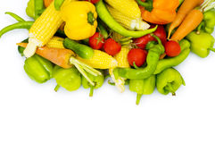 Various vegetables isolated on the white Stock Images