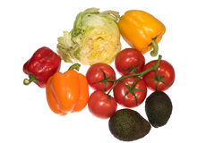 Various vegetables isolated on white background Stock Photography