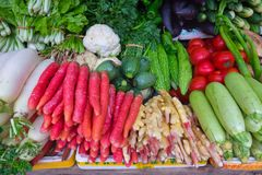 Various vegetables on market in Asia. Various vegetables on market in asia Stock Photo