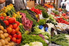 Various vegetables in an open market Stock Image