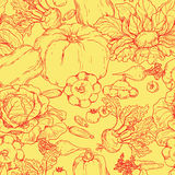 Various vegetables pattern Stock Images
