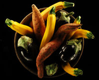 Various vegetables in a plate Royalty Free Stock Images