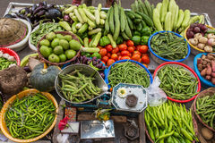 Various of vegetables at the street market Royalty Free Stock Photos