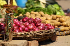 Various vegetables at vegetable market. India Royalty Free Stock Photo
