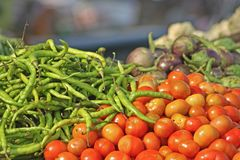 Various vegetables at vegetable market Stock Photography