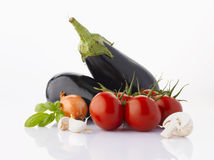 Various vegetables on white Royalty Free Stock Image