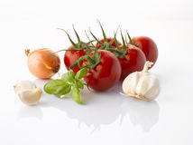 Various vegetables on white Stock Photo