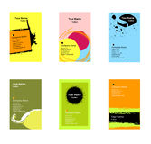 Various vertical business cards Stock Photography
