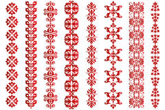 Various Victorian borders. Isolated on white, useful for designers stock illustration