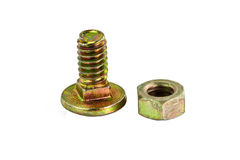 Various views of the bolt and nut . Stock Images